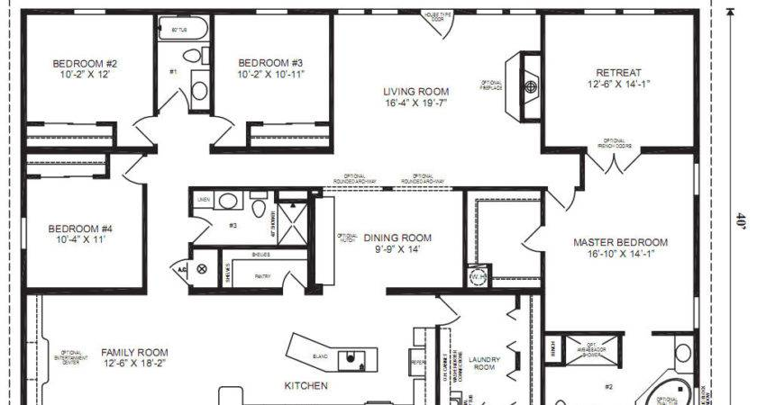 Ranch Modular Home Floor Plans Bedroom
