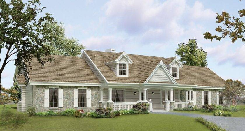 Ranch Style House Plans Porch Houseplans Chatham