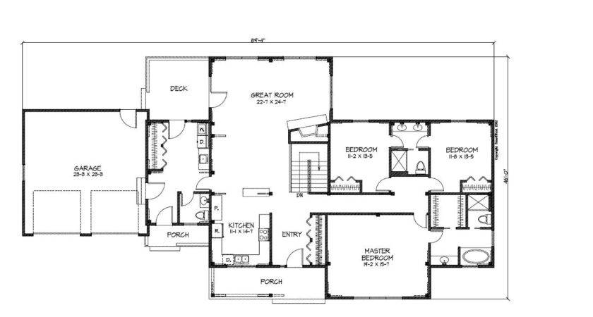 Ranch Style Open Concept House Plans