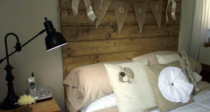 Reclaimed Wood Look Headboard Reveal
