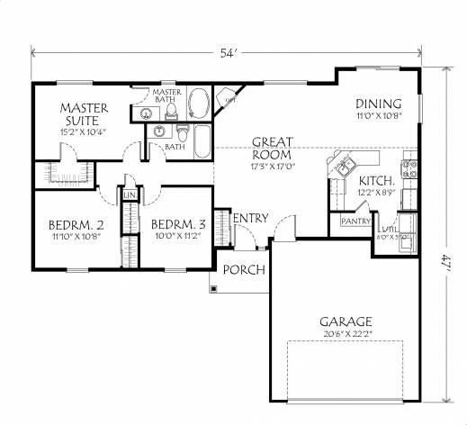 Remarkable One Story House Plans Open Floor Design