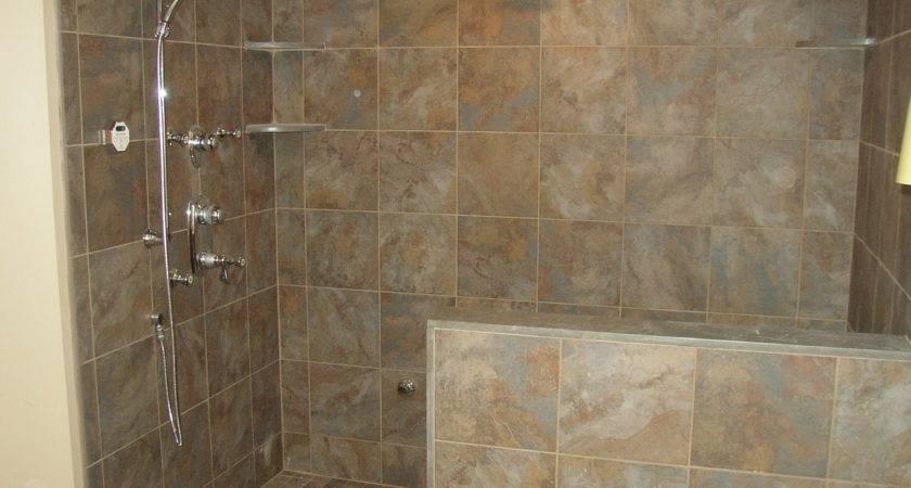 Remarkable Walk Tile Shower Designs Jpeg