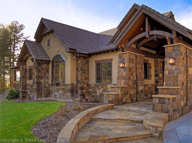Rock Exterior Homes Home Architectural