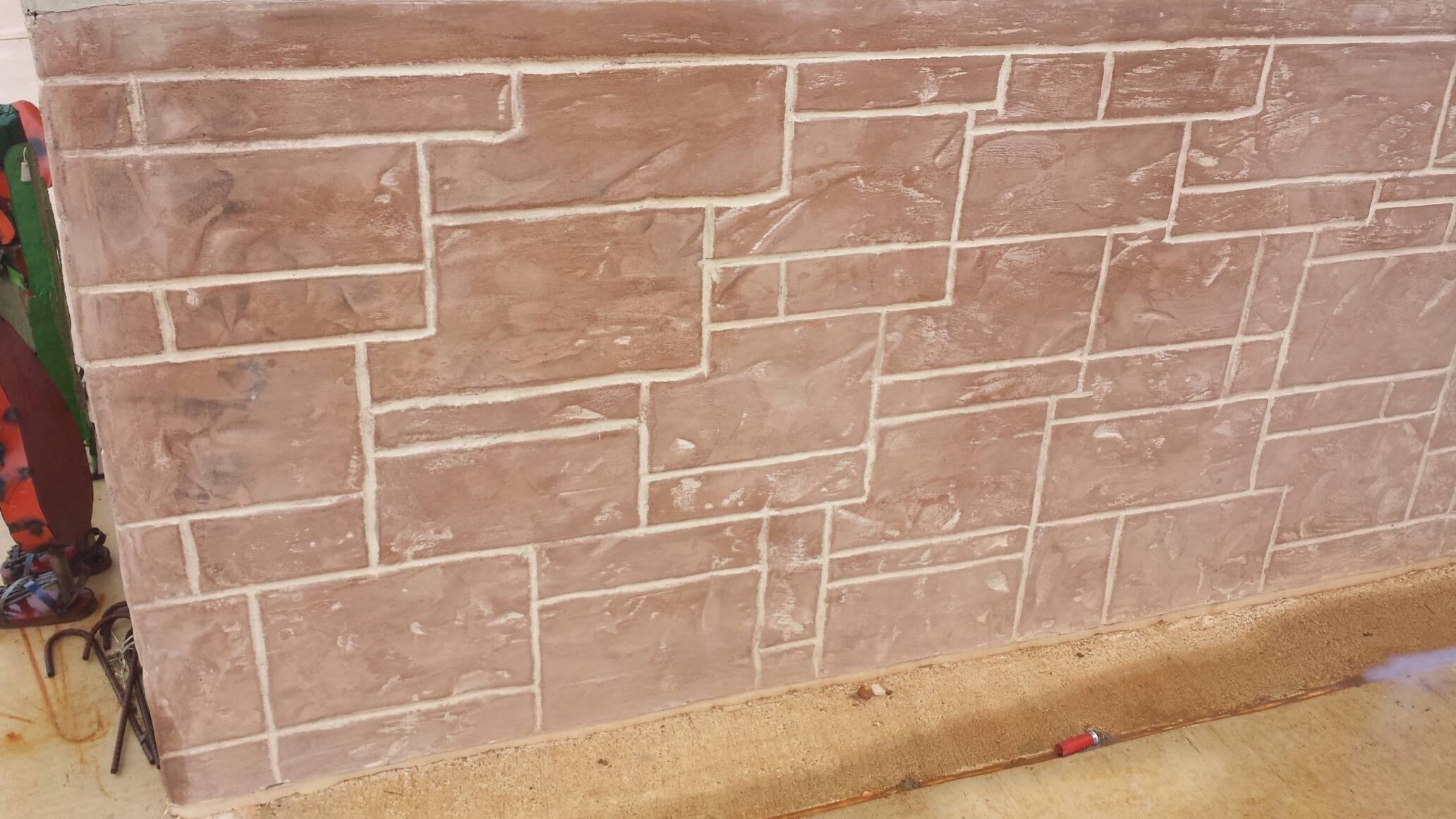 Rock Skirting Installation Stucco