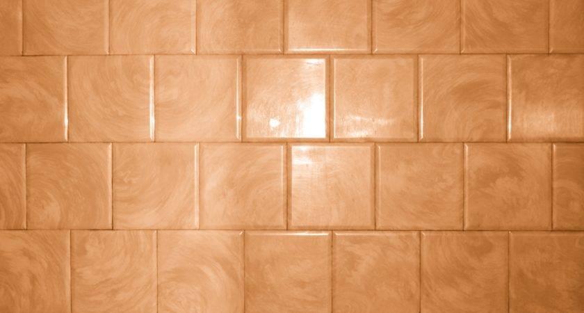 Rust Orange Bathroom Tile Swirl Pattern Texture