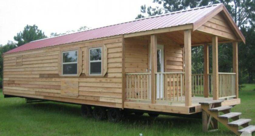 Rustic Cabin Wheels Titled Campground Approved Sale