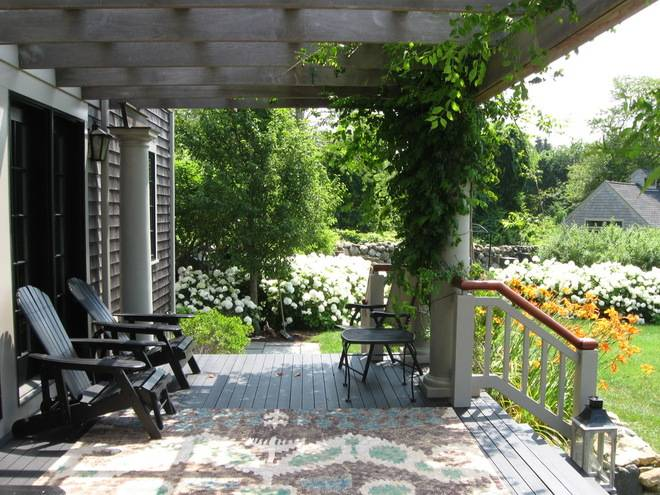 Rustic Porch Paul Maue Associates Landscape Architects