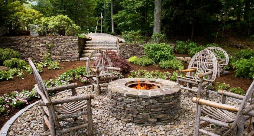 Rustic Style Fire Pits Landscaping Ideas Hardscape Design Hgtv