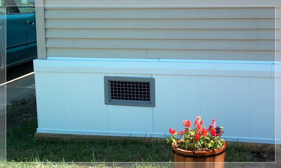 Rustique Rapid Wall Foundation Systems Mobile Home Skirting Deck