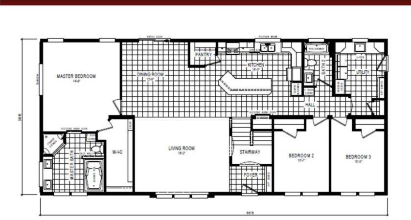 Schult Floor Plan Manufactured Home