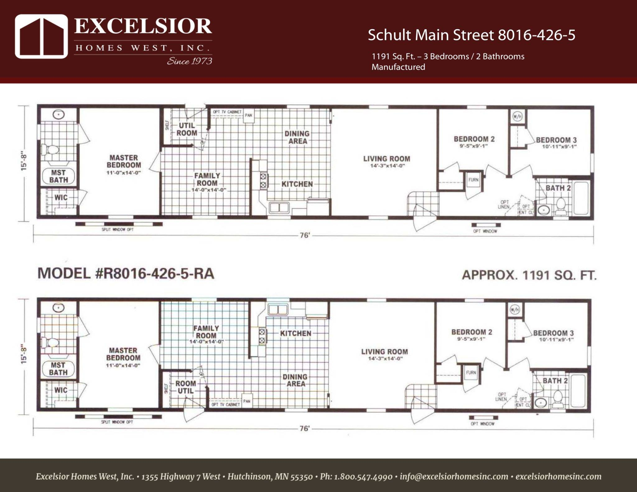 Schult Main Street Excelsior Homes West Inc