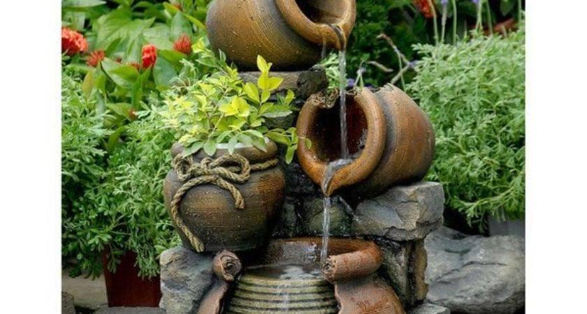 Shop Multi Pots Flower Pot Outdoor Water Fountain