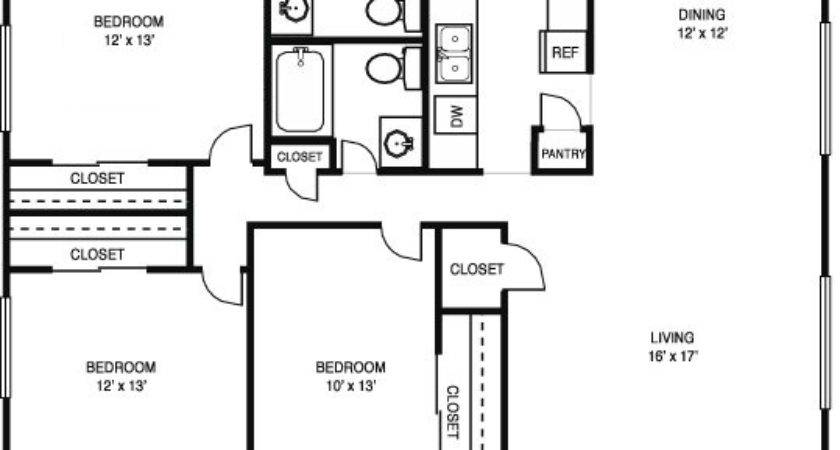 Simple Bedroom Bathroom House Plans Best