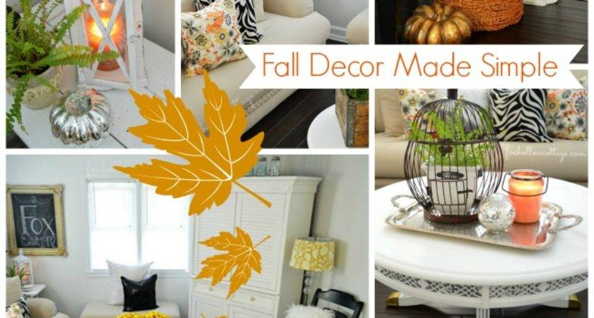 Simple Easy Affordable Decorating Ideas Fall Fox