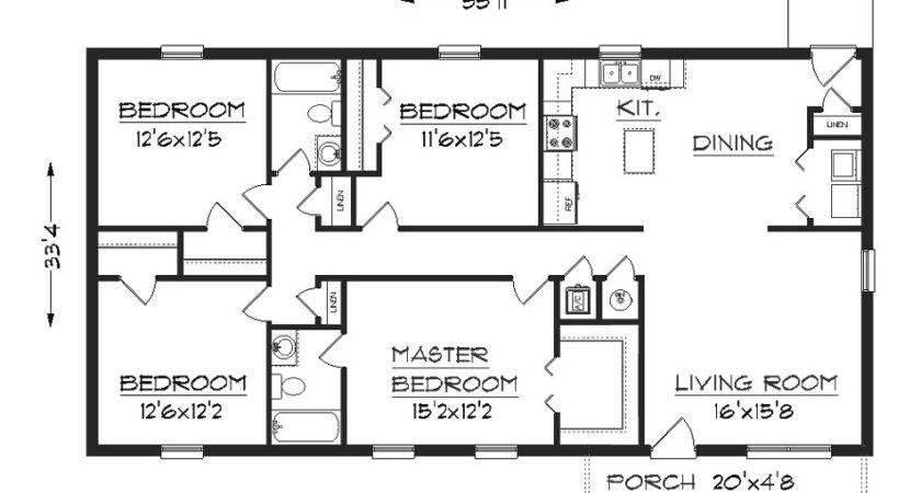 Simple Elegant Floor Plan Hwbdo Cottage House