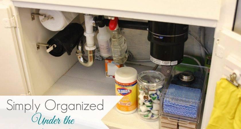 Simply Organized Under Kitchen Sink
