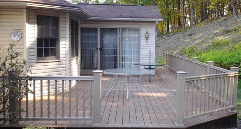 Single Double Wide Mobile Home Decks