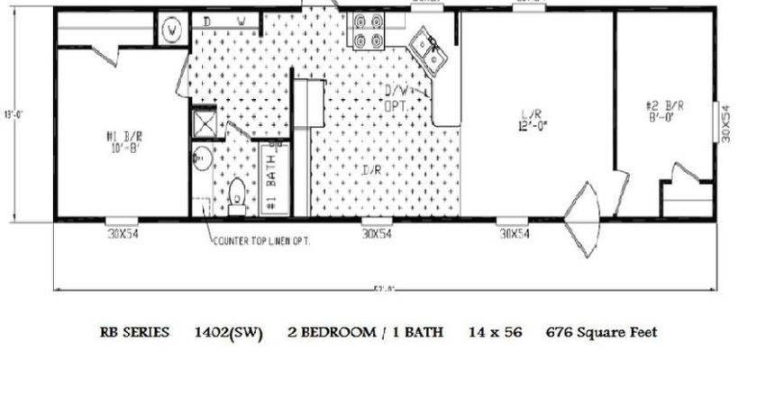 Single Wide Mobile Home Floor Plans Bedroom Homes