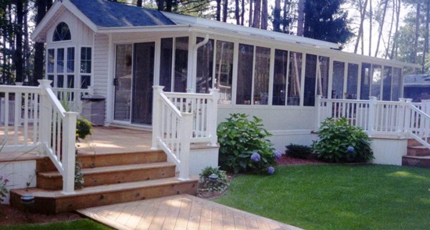 Single Wide Mobile Home Porch Homes Ideas