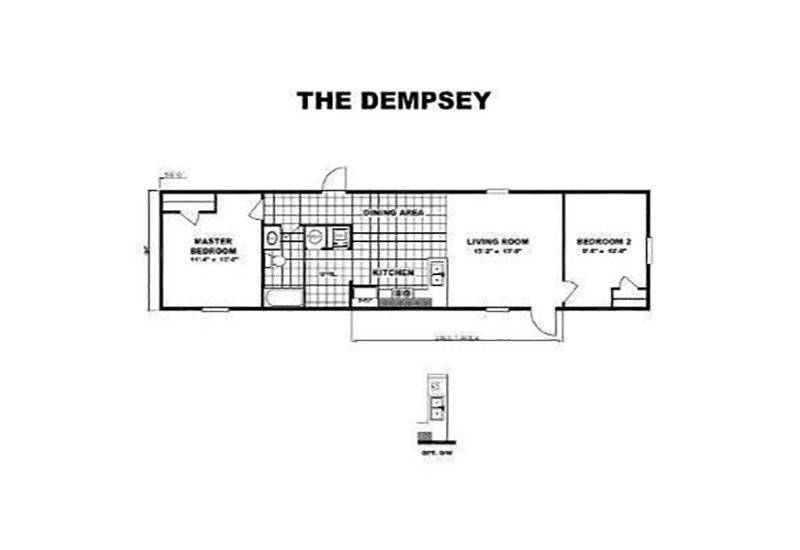 Single Wide Mobile Homes Home Floor Plan