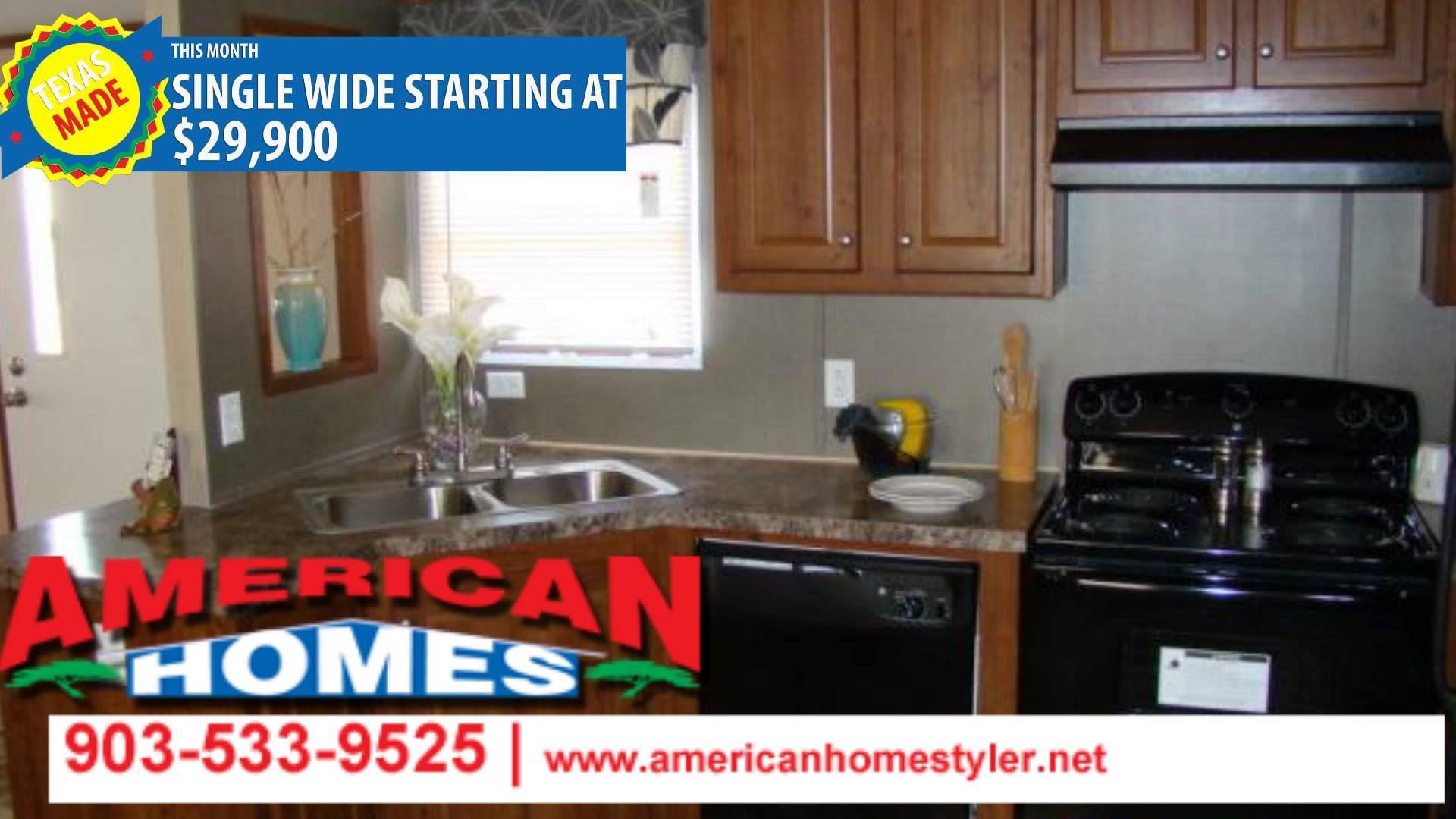 Single Wide Mobile Homes Tyler Texas American Youtube