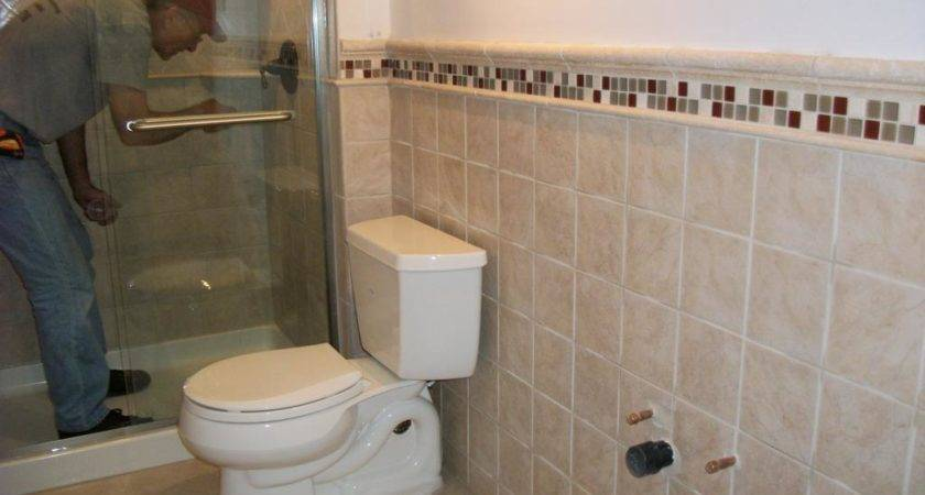 Small Bathroom Neutral Wall Tile Regular Marble