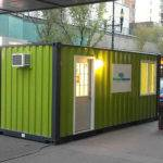 Small Green Prefab Homes Sale Decorated White Door