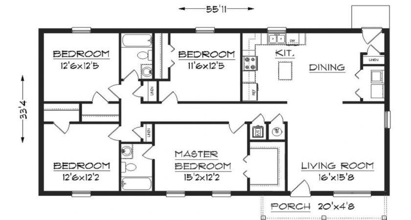 Small House Floor Plans Under Simple