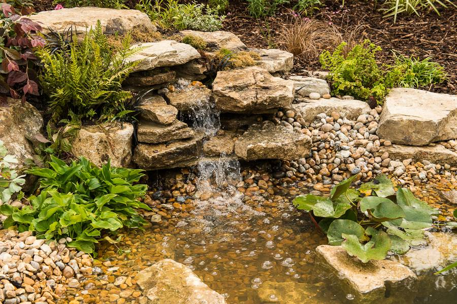 Small Pond Build Gravel Bed Filtration Waterfall