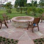 Small Round Fire Pit Decorating Outdoor Patio Ideas Umbrella
