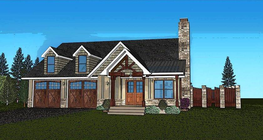 Small Single Story House Plan Fireside Cottage