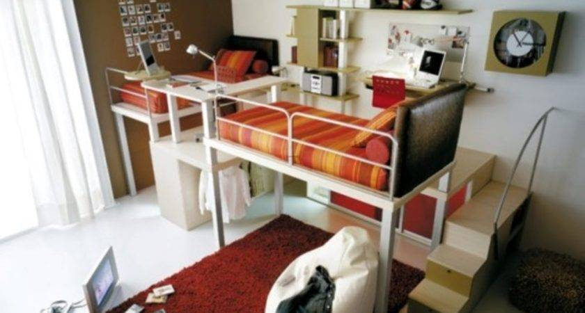 Small Teenage Bedroom Compact Loft Bed Ideas Chatodining