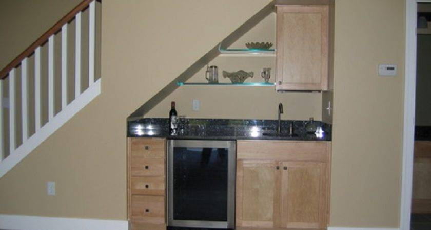 Small Under Stair Wet Bar Basement