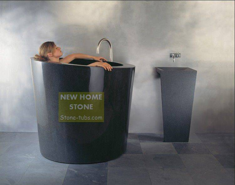Soaker Tub Cheap Bathtubs Black Granite Stone Hand Carved