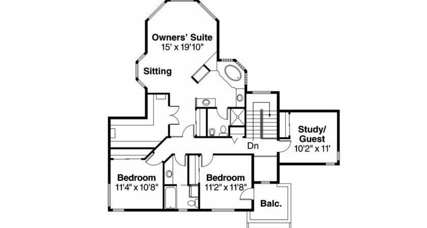 Southwest House Plan Bellaire Floor