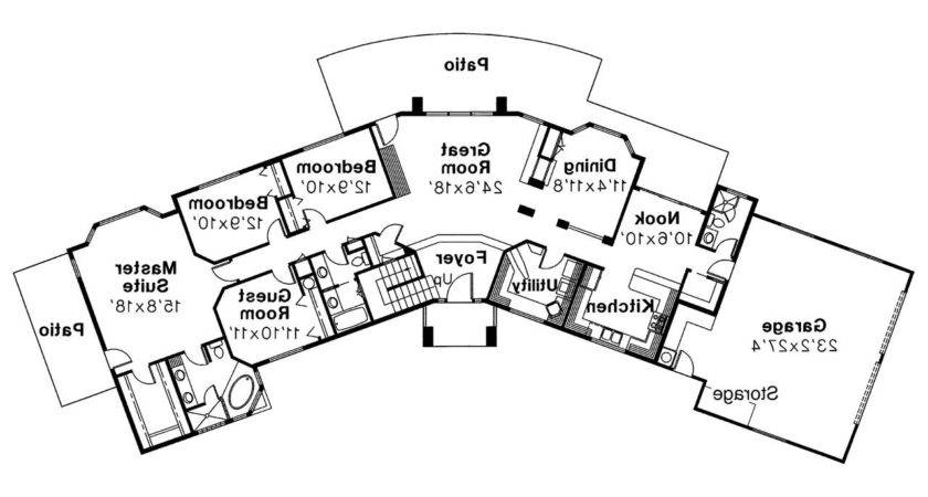 Southwest House Plan Estefan Floor