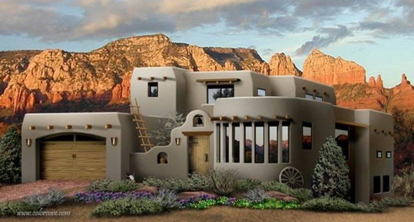 Southwest Style Pueblo Desert Adobe Home Homes Dream
