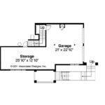 Southwestern Home Plan Santa Rosa Garage Floor