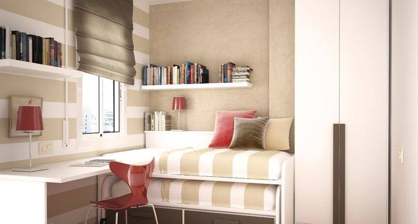 Spaces Small Kids Room Design Two Beds Space Saving Ideas