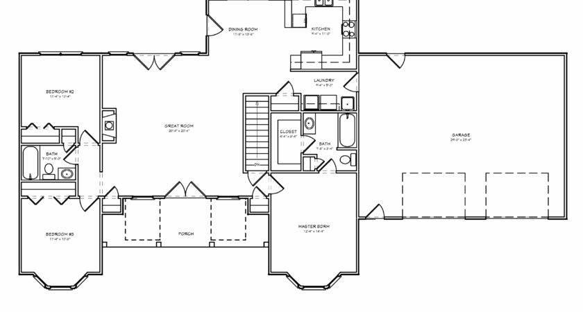 Split Bedroom Ranch House Plans