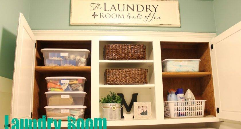Spring Cleaning Organized Laundry Room