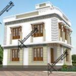Square Feet Bedrooms Contemporary House Design Kerala