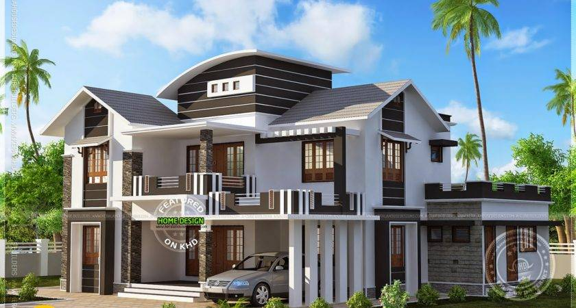 Square Feet Modern Mix House Kerala Home Design