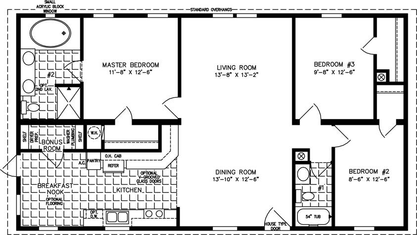 Square Foot Open Floor Plans Feet Lrg