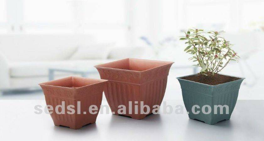 Square Plastic Flower Pots Cheap Garden Pot