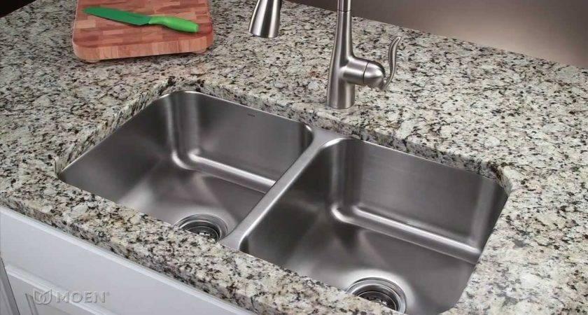 Stainless Steel Undermount Kitchen Sink Moen Installation Youtube