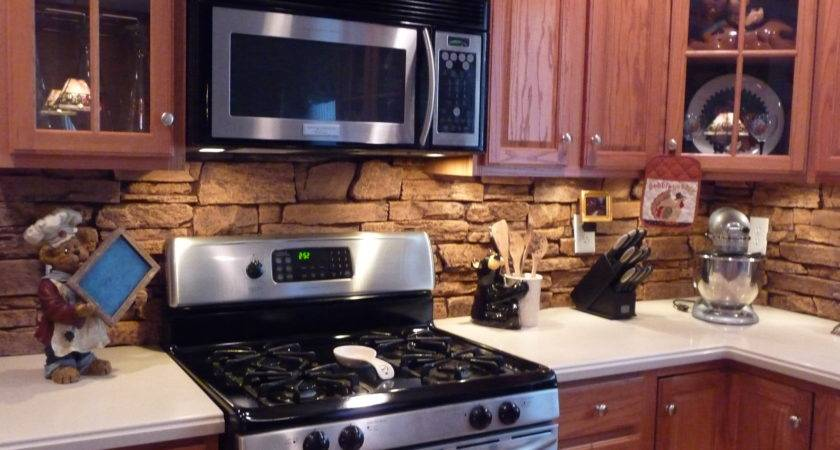 Stone Backsplash Adds Natural Element Kitchen Otherwise