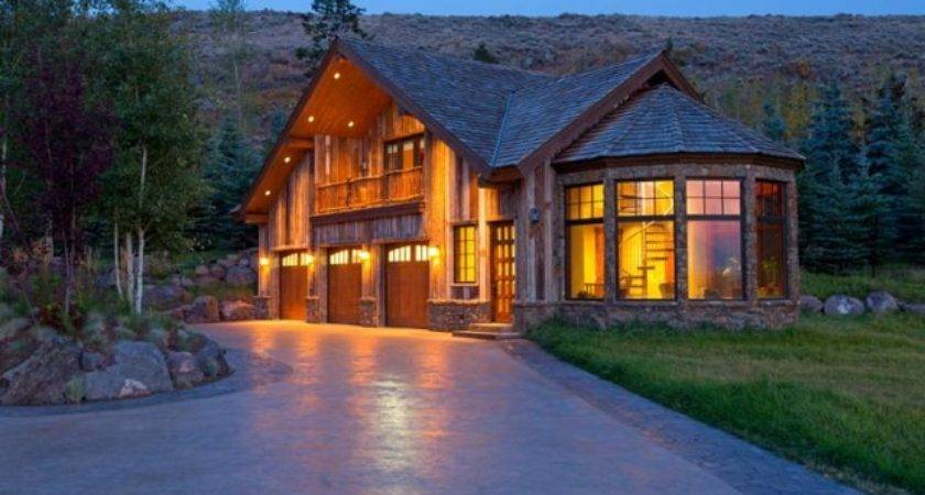 Stunning Log Cabin Teton County Wyoming Home Design