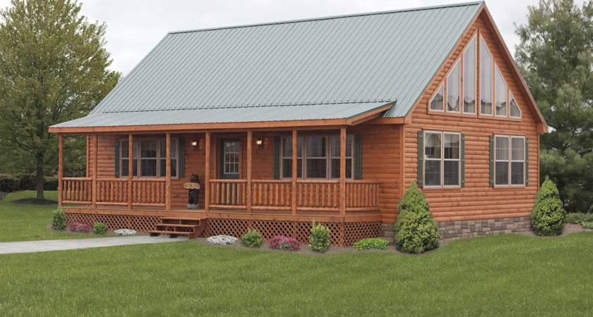 Stunning Mountaineer Deluxe Exterior Log Cabin Double Wide