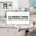 Subway White Marble Backsplash Tile Idea